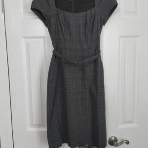 Banana Republic Mad Men plaid grey dress, sz 0